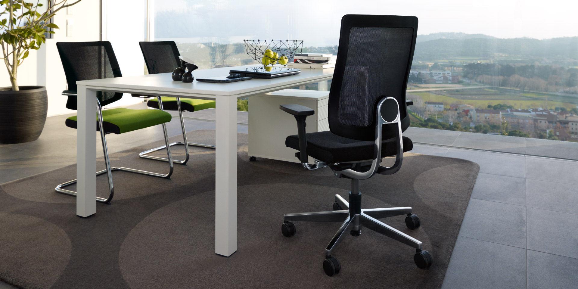 Executive desk / steel / contemporary / commercial
